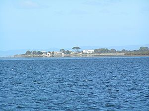 Swan Island from Swan Bay Jetty