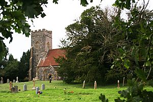 Ashbrittle church and ancient yew tree (geograph 3616349).jpg