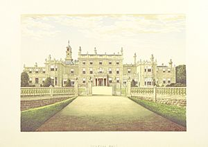 CS p4.208 - Bulwell Hall, Nottinghamshire - Morris's County Seats, 1879