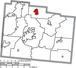 Location of Yellow Springs in Greene County