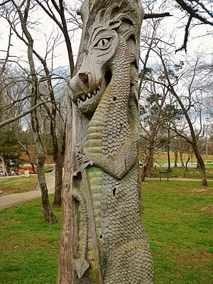 Montevallo, Alabama Tim Tingle Tree Carvings in Orr Park 2