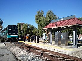 The Moorpark Metrolink station