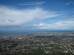 View of Wollongong from summit of Mt Keira