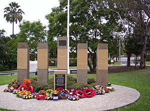 War memorial at The Gap, Queensland - ANZAC Day 2012