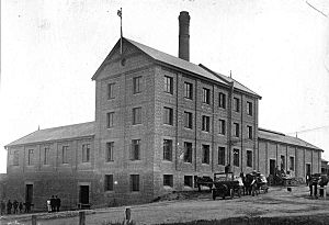 Flour mill at Murray Bridge East, 1920