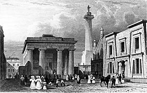 John Foulston's Town Hall, Column and Library in Devonport
