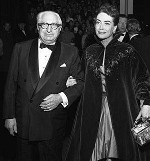 Louis B Mayer and Joan Crawford