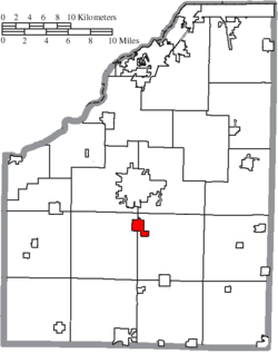 Location of Portage in Wood County