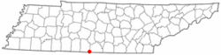 Location of Ardmore, Tennessee