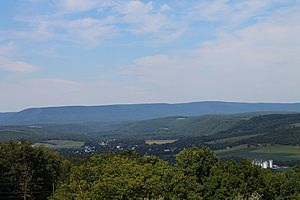 View of northern Columbia County, Pennsylvania from Kramer Hill Road 3