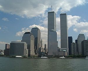 World trade center new york city from hudson august 26 2000