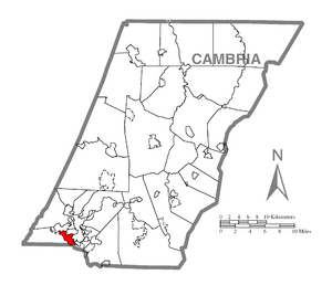 Location within Cambria County