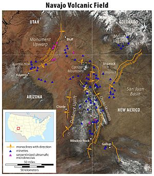 Map of the Navajo Volcanic Fields