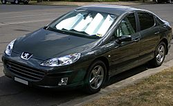 Peugeot 407 HDi (front view)