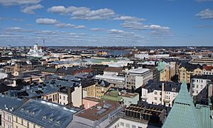 Skyline of Helsinki as seen from the Erottaja fire station