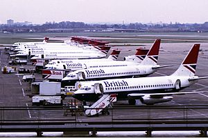 British Airways aircraft at LHR T1 1980s Kennaugh