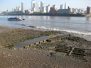 Culverted mouth of the Earl's Sluice at Deptford Wharf