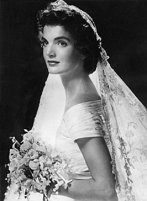 Jackie Kennedy on her wedding day,Rhode Island,September 12, 1953