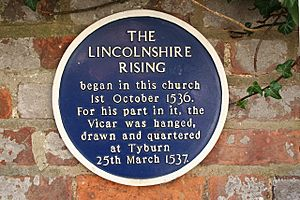 Lincolnshire Rising plaque - geograph.org.uk - 860306