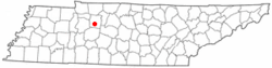 Location of Dickson, Tennessee