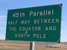 45th parallel sign - Baker City, Oregon