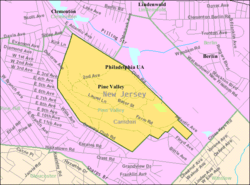 Census Bureau map of Pine Valley, New Jersey