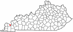 Location of Farley (Woodlawn-Oakdale), Kentucky