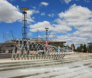 Water fountain olympic park new south wales