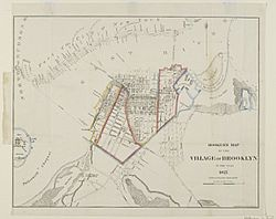 Brooklyn Museum - Hooker's Map of the Village of Brooklyn