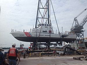 Coast Guard Yard dry-docks Cutter Chinook -a