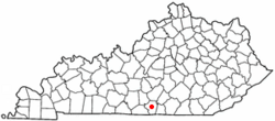 Location of Burkesville in Kentucky