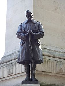 statue wearing Royal Flying Corps uniform