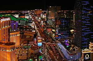 Las Vegas Strip at night, 2012