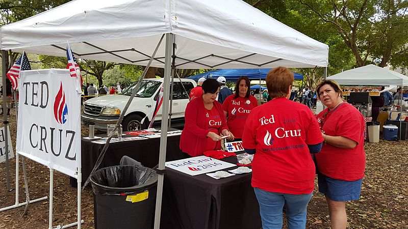 Ted Cruz supporters in Naples Florida, January 2016.