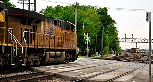 Train crossing in West Chicago