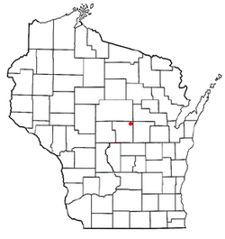 Location of Alban, Wisconsin