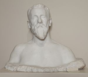 Marble Bust of Joseph Pulitzer, Sr. by Auguste Rodin