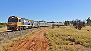 NR45 + NR10 + Ghan Alice Springs, 2015 (02)