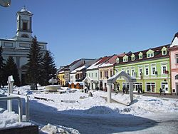 Central Poprad in winter