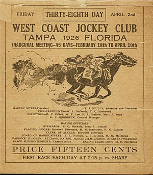 West Coast Jockey Club Racing Book Cover April 2 1926