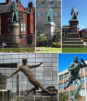 Barrow-in-Furness statue collage