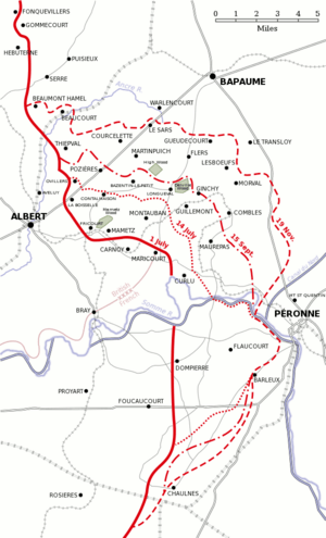 Battle of the Somme 1916 map