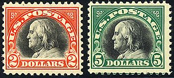 Benjamin Franklin 2-Big-Bens 1918 Issue