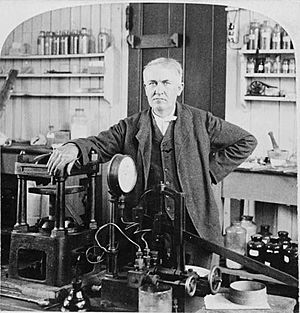 Edison in his NJ laboratory 1901