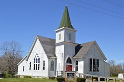 Fruitdale UMC from southeast