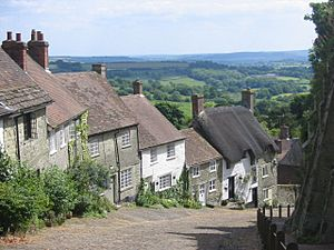 Gold Hill, Shaftsbury, Dorset, England