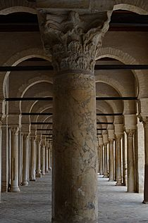 Great Mosque of Kairouan, west portico of the courtyard