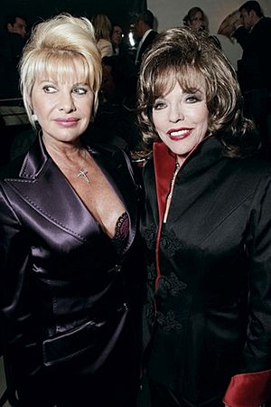 Ivana Trump wearing Lloyd Klein with Joan Collins (15678729390)