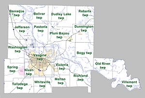 Jefferson County Arkansas 2010 Township Map large