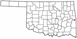 Location of Spiro, Oklahoma